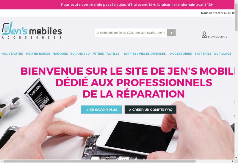 Capture d'écran du site de Jen'S Mobiles Accessories