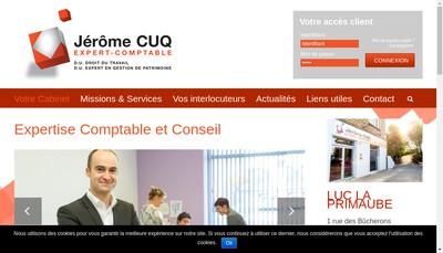 Site internet de Jerome Cuq