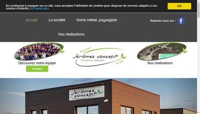 Site internet de Jeromes Concept