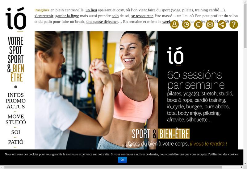 Capture d'écran du site de IO