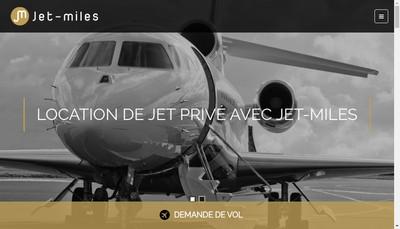 Site internet de Jet-Miles