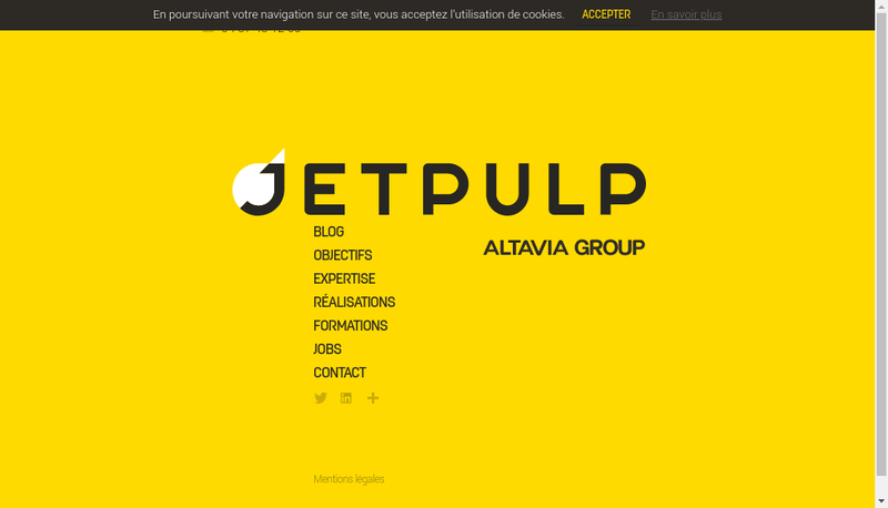 Capture d'écran du site de Add Online / Ao / Enyware / Ewa