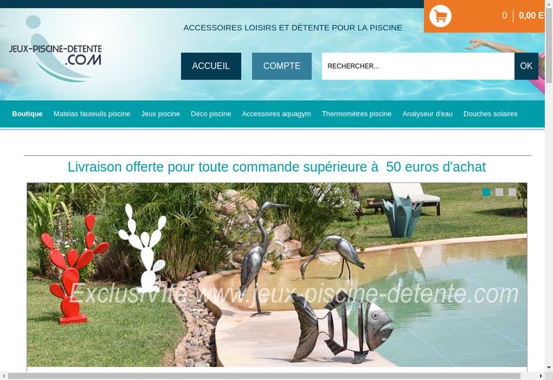 Capture d'écran du site de Piscine Detente