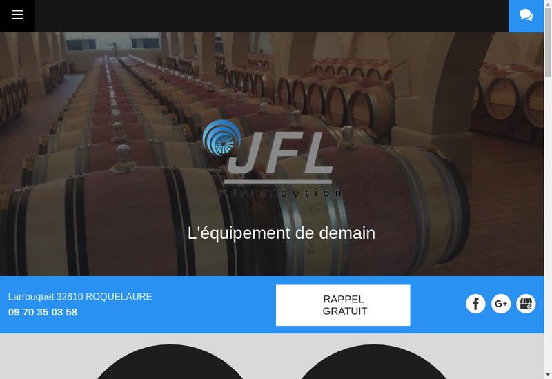 Capture d'écran du site de Jfl Distribution