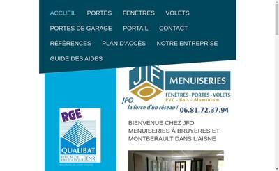 Site internet de Jfo Menuiseries