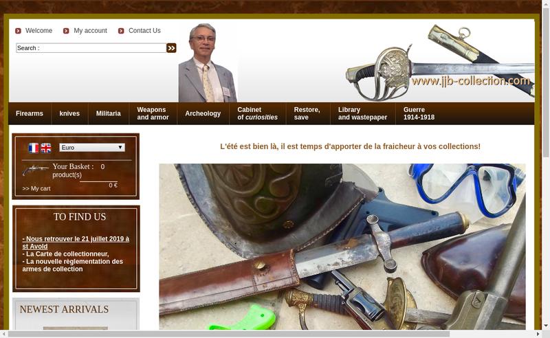 Capture d'écran du site de Jjb Collection