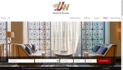 Site internet de Jjw Luxury Hotels