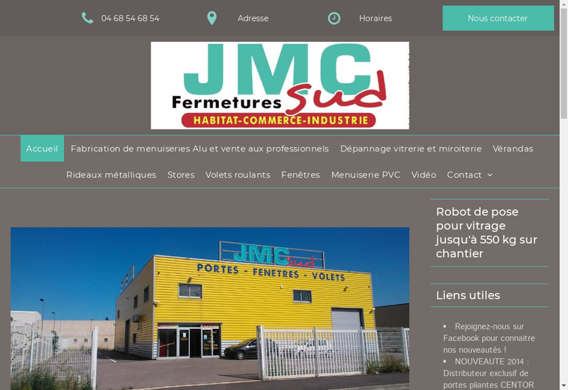 Capture d'écran du site de JMC Sud