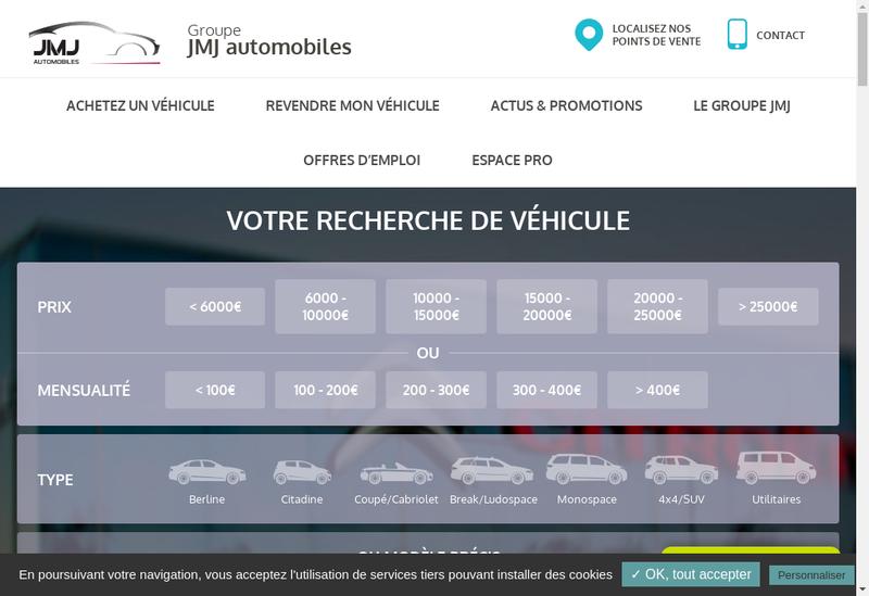 Capture d'écran du site de Jmj Automobiles