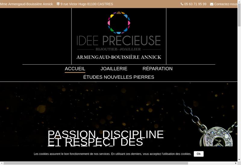 Capture d'écran du site de Idee Precieuse