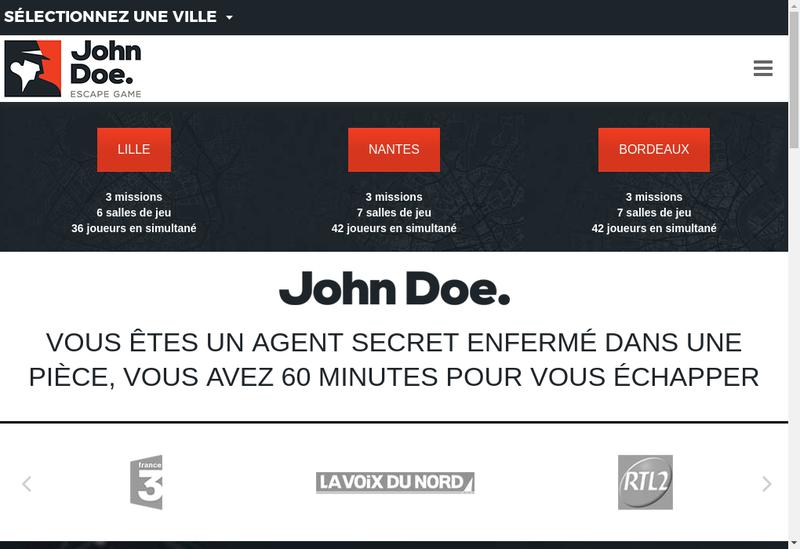 Capture d'écran du site de John Doe