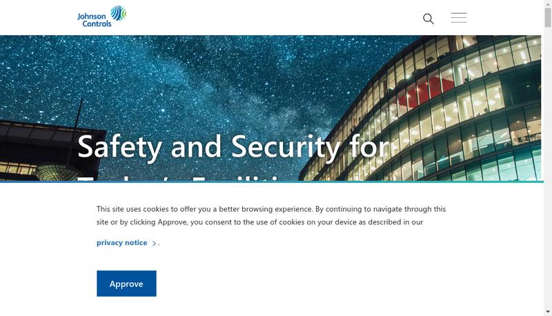 Capture d'écran du site de Johnson Controls Harnes