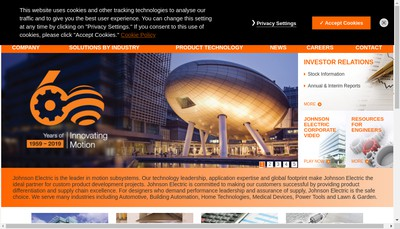 Site internet de Johnson Electric International France