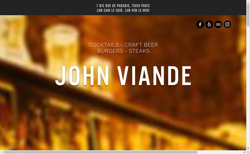 Capture d'écran du site de John Viande