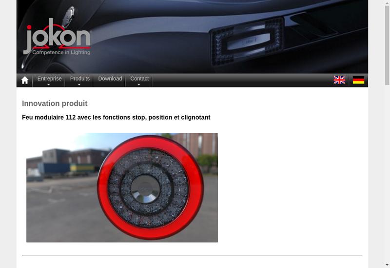 Capture d'écran du site de Jokon SARL
