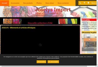 Site internet de Joselys-Import