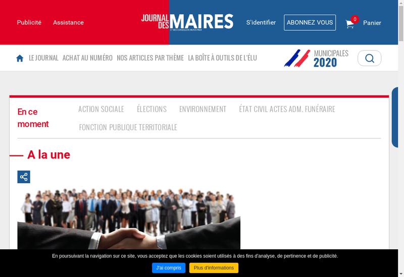 Capture d'écran du site de Journal des Maires