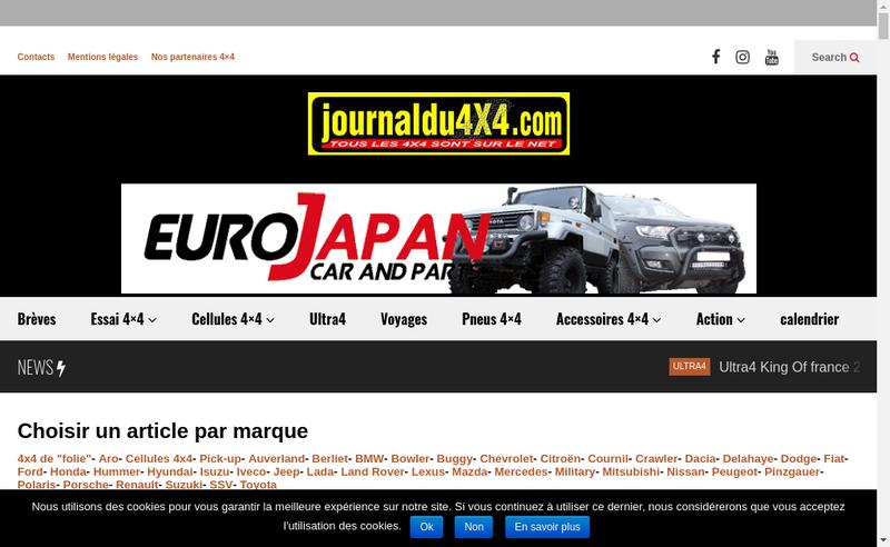 Capture d'écran du site de Journal du 4X4