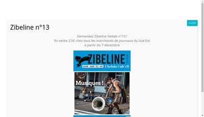 Capture d'écran du site de L'Amicale Zibeline