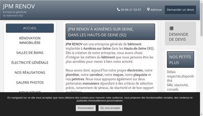Capture d'écran du site de RTEB