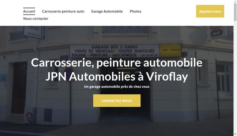 Capture d'écran du site de Jpn Automobiles