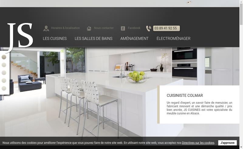Capture d'écran du site de Js Cuisines