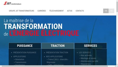 Site internet de Jst Transformateurs