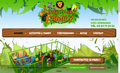Site internet de Jungle Park Family