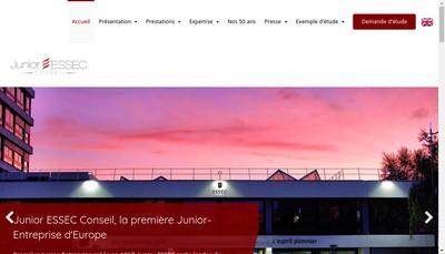 Site internet de Junior Essec