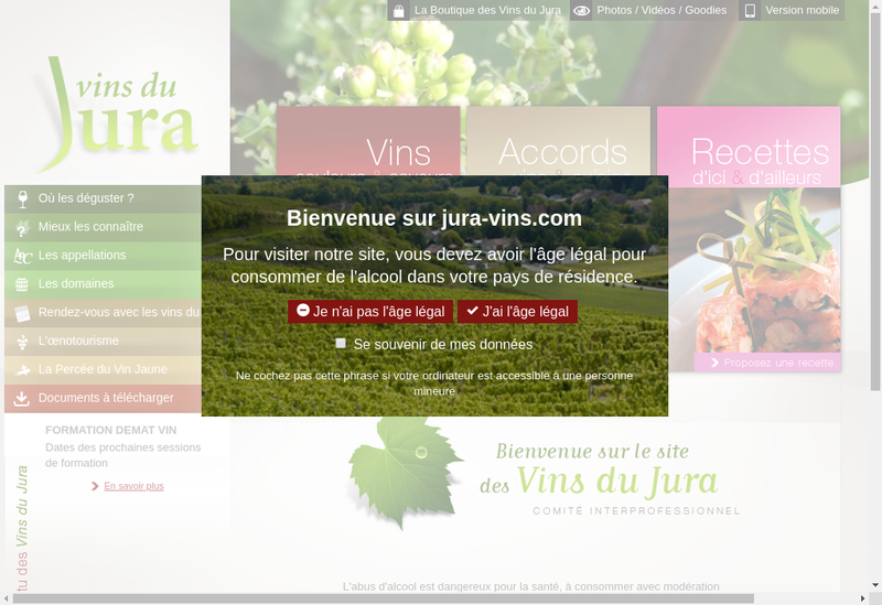 Capture d'écran du site de Tissot Maire - la Jurassienne - la Jur