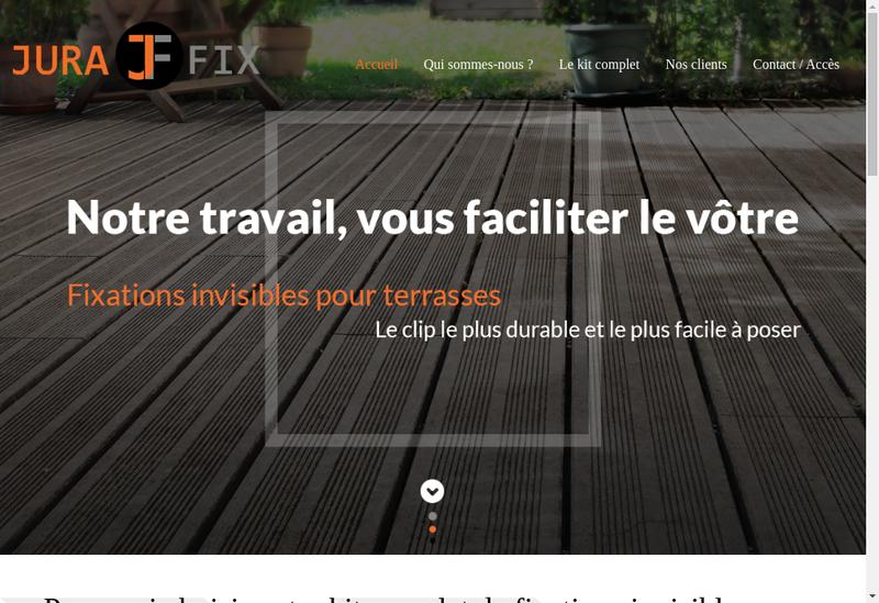 Capture d'écran du site de Jurafix