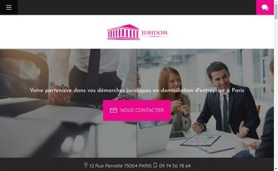 Site internet de Juridom Consulting