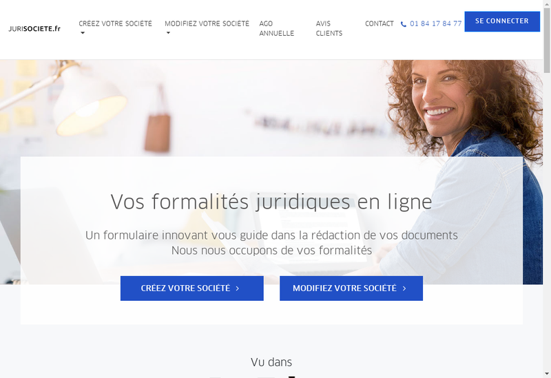Capture d'écran du site de Jurisociete