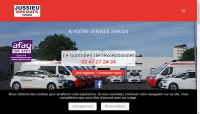 Site internet de Ambulances Barthes-Jussieu Secours