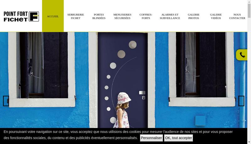 Capture d'écran du site de Jz Securite