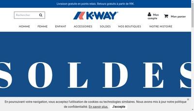 Site internet de K-Way France