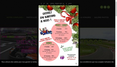 Site internet de Racing Kart Caudecoste