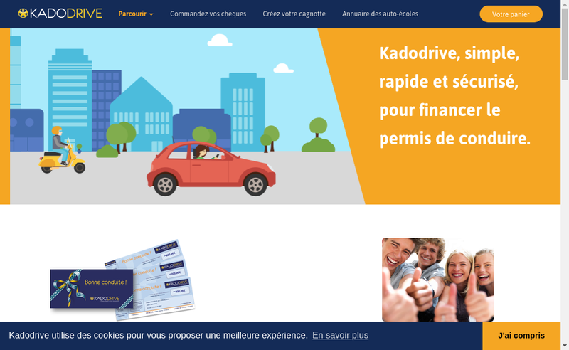 Capture d'écran du site de Kadodrive