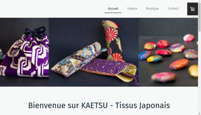 Capture d'écran du site de Kaetsu