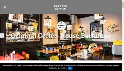 Site internet de Kaffee Berlin