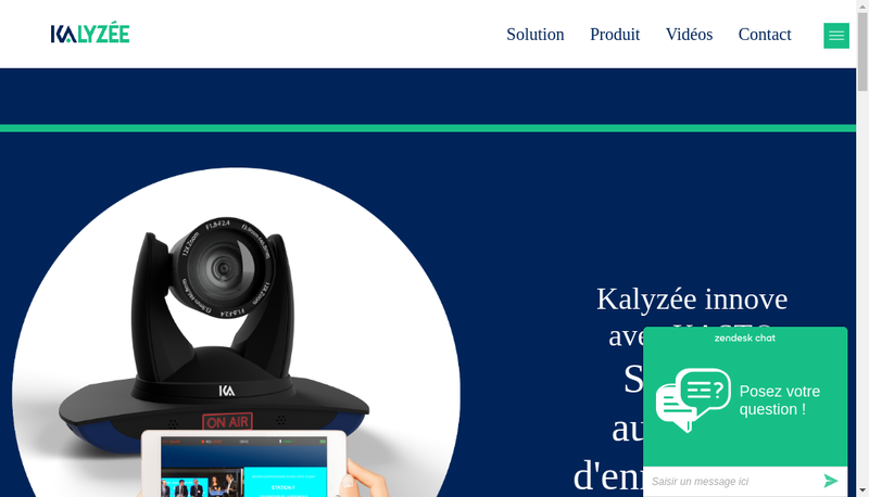 Capture d'écran du site de Kalyzee