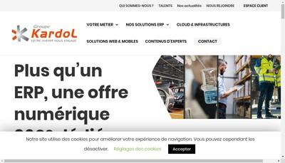 Site internet de Kardol SA