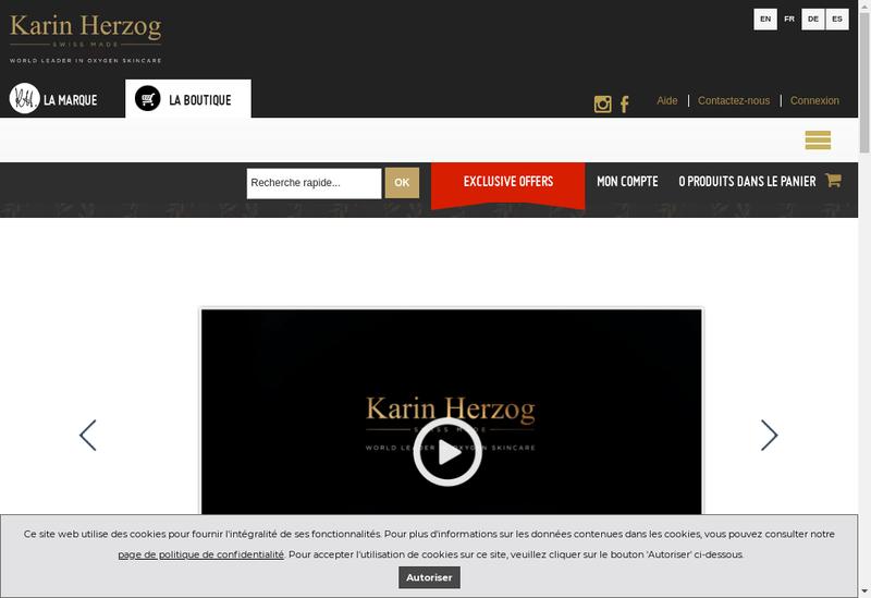 Capture d'écran du site de Karin Herzog France