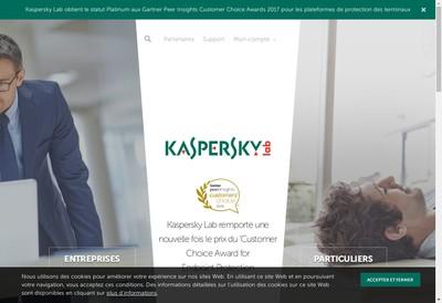 Site internet de Kaspersky Lab France