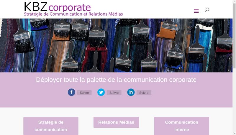 Capture d'écran du site de Kbz Corporate