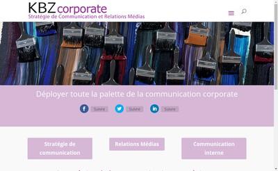 Site internet de Kbz Corporate