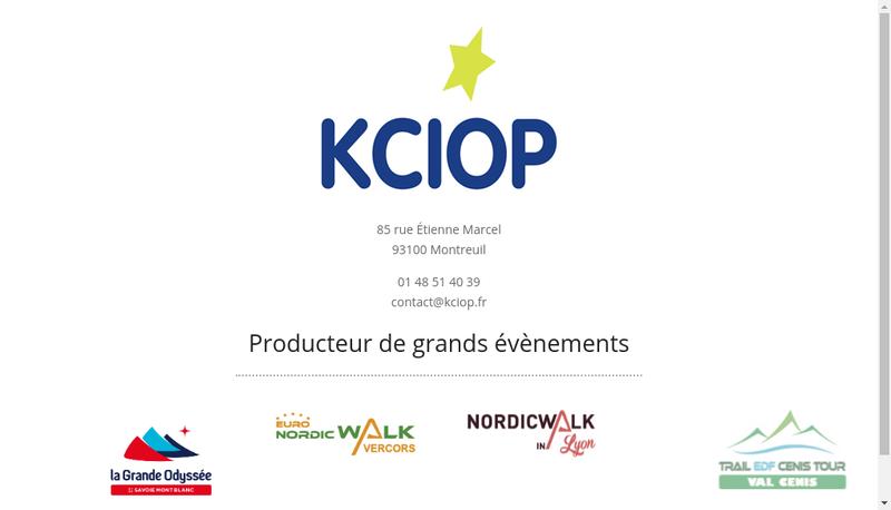 Capture d'écran du site de Kciop