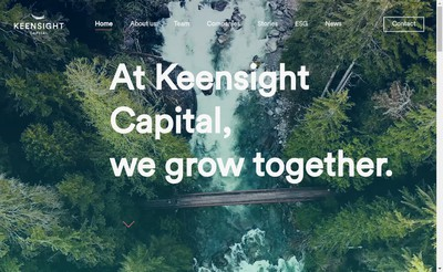 Site internet de Keensight Capital