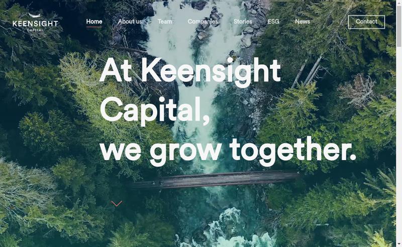 Capture d'écran du site de Keensight Capital