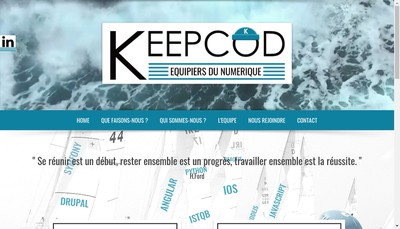 Site internet de Keepcod